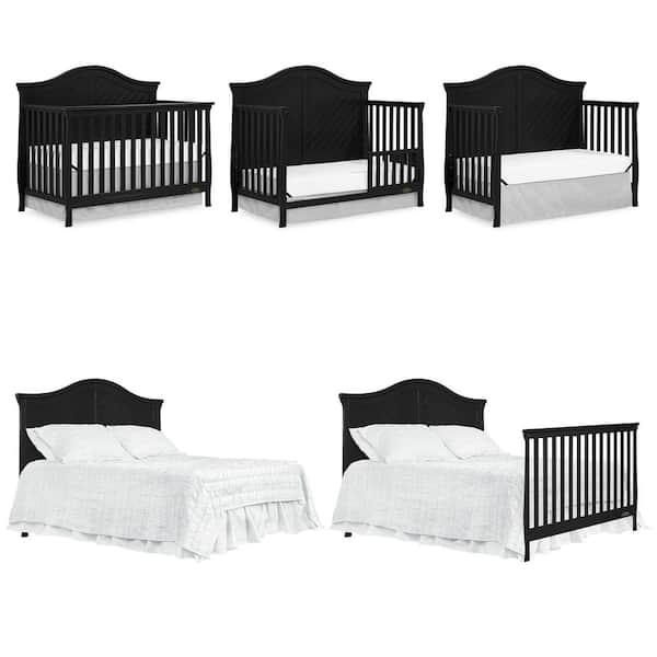 Me Kaylin Black 5 In 1 Convertible Crib, Dream On Me Bedding