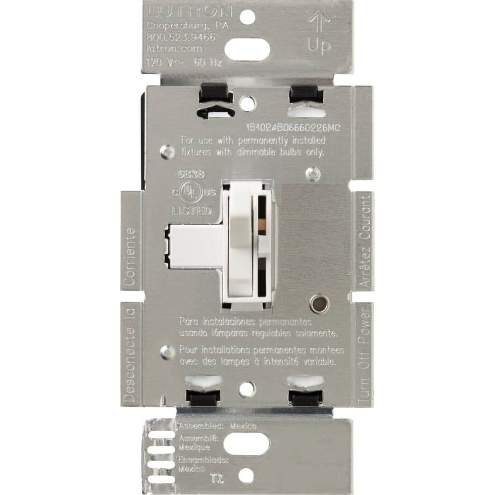 Lutron Toggler 600-Watt 3-Way Magnetic Low-Voltage Dimmer,  White-AYLV-603P-WH - The Home DepotThe Home Depot