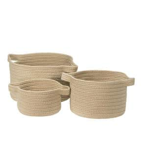 Santorini Wheat Polypropylene Storage (Set of 3)