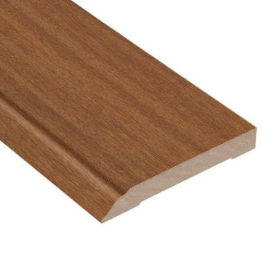 Matte Cumaru Tropic 1/2 in. Thick x 3-1/2 in. Wide x 94 in. Length Wall Base Molding
