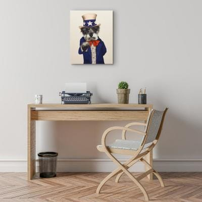 """20 in. x 16 in. """"Uncle Sam"""" Graphic Art on Wrapped Canvas Wall Art"""