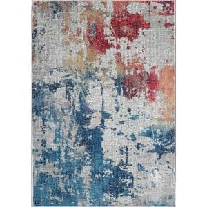Global Vintage Multicolor 4 ft. x 6 ft. Oriental Contemporary Area Rug