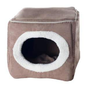 Small Light Coffee Cozy Cave Pet Cube
