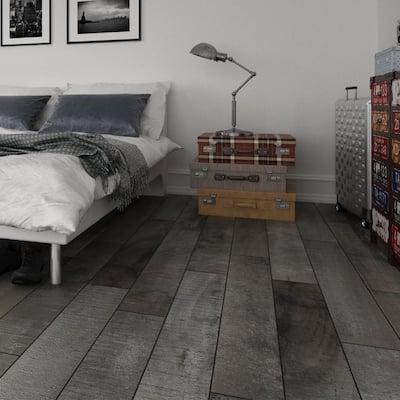 Eagle Perch Grey 7.5 in. x 47 in. Matte Porcelain Floor Tile (14.99 sq. ft. / carton)