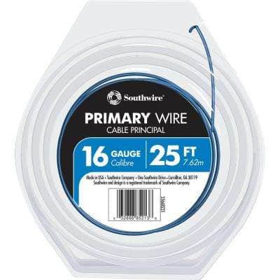 25 ft. 16 Blue Stranded CU GPT Primary Auto Wire