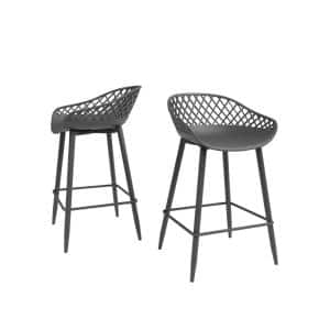 Kurv 26 in. Warm Gray Counter Stool (Set of 2)
