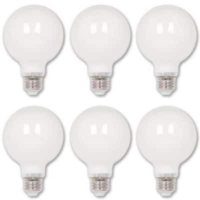 40-Watt Equivalent G25 Dimmable Edison Filament LED Light Bulb Soft White Light (6-Pack)