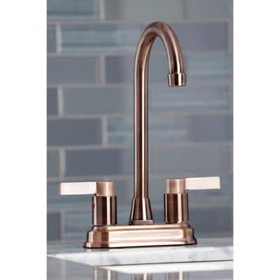 NuvoFusion 2-Handle Bar Faucet in Antique Copper