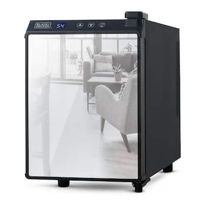 10 in. Wide Thermoelectric 6-Bottle Wine Cooler, Mirrored Door