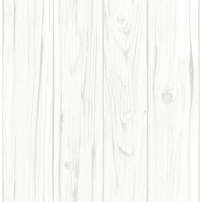 White Vinyl Peel & Stick Repositionable Wallpaper Roll (Covers 28.2 Sq. Ft.)