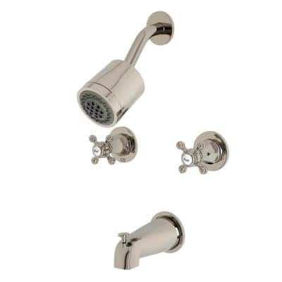 Metropolitan 2-Handle 2-Spray Tub and Shower Faucet in Polished Nickel (Valve Included)