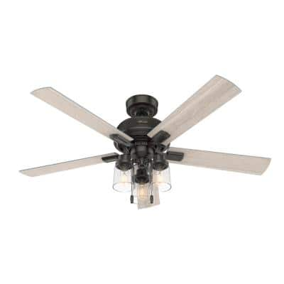 Hartland 52 in. LED Indoor Noble Bronze Ceiling Fan with Light Kit