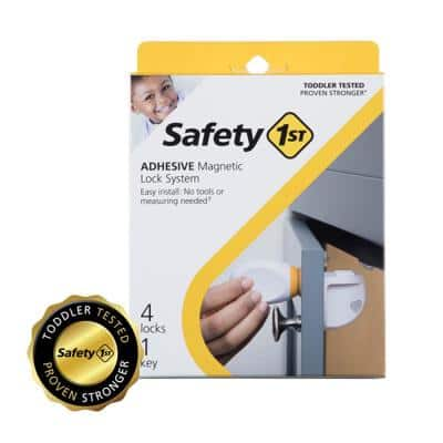 Adhesive Magnetic Lock System (5-Piece)
