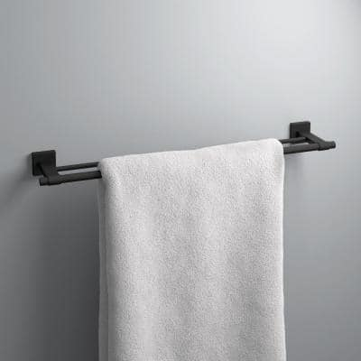 Maxted 24 in. Double Towel Bar in Matte Black