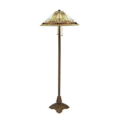 Tiffany Blue Mission 60 in. Bronze Floor Lamp