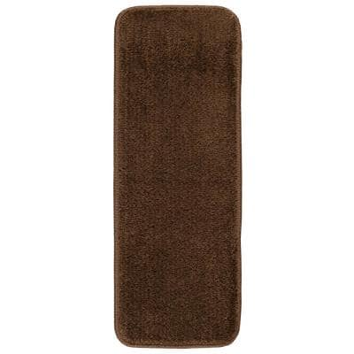 Softy Collection Brown 9 in. x 31 in. Rubber Back Stair Tread (Set of 7)