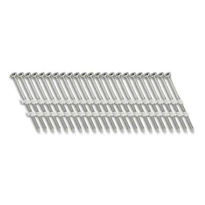 3 in. x 1/9 in. 20-Degree Fine Thread Electro-Galvanize Plastic Strip Versa Drive Nail Screw Fastener (1,000-Pack)