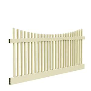 Yukon Scallop 4 ft. H x 8 ft. W Sand Vinyl Un-Assembled Fence Panel