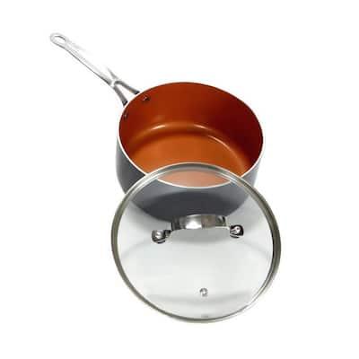 3 qt. Aluminum Ti-Ceramic Nonstick Sauce Pan with Glass Lid