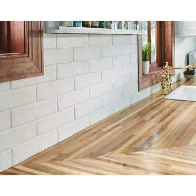 Capella White Brick 2-1/3 in. x 10 in. Matte Porcelain Floor and Wall Tile (5.17 sq. ft. / case)