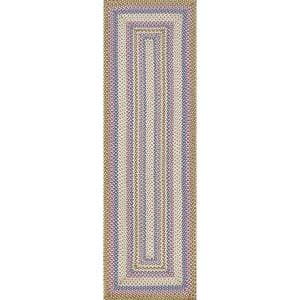 Shay Casual Striped Blue Multi 3 ft. x 8 ft. Indoor/Outdoor Runner