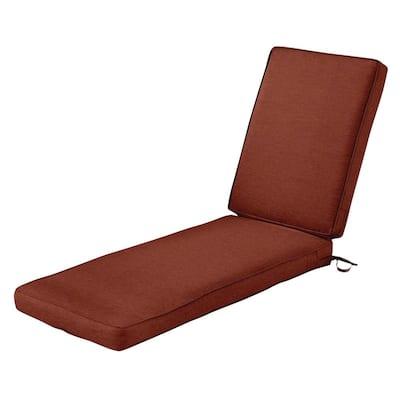 Montlake FadeSafe Heather Henna Outdoor Chaise Lounge Cushion
