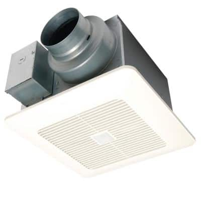 WhisperSense DC Fan with Motion and Humidity Sensors Delay Timer and Pick-A-Flow Speed Selector 50, 80 or 110 CFM