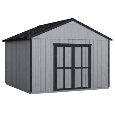 Do-it Yourself Astoria 12 ft. x 16 ft. Wooden Storage Shed for Existing Cement Pad