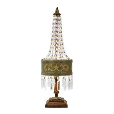 25 in. 1-Light Amber Eiffel Lamp