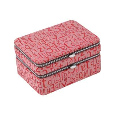 Red 5 Pieces Manicure Set with Travel Jewelry Box