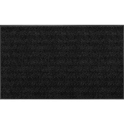 Chevron Rib Charcoal 3 Ft. x 4 Ft. Commercial Door Mat