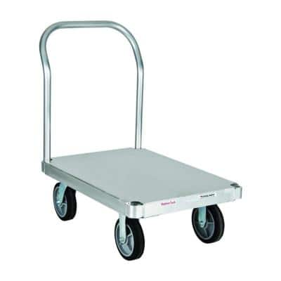 2,800 lb. Capacity 24 in. x 36 in. Smooth Deck Aluminum Platform Truck with One Handle and 8 in. Thermoplastic Rub