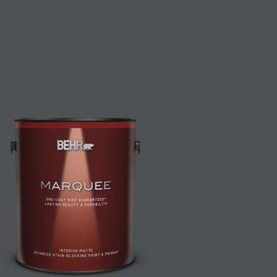 1 gal. #PPU18-01 Cracked Pepper One-Coat Hide Matte Interior Paint & Primer