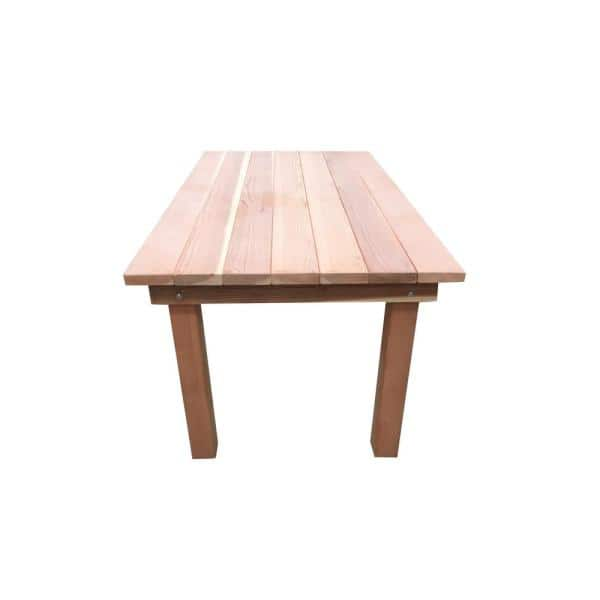 Best Redwood Farmhouse Natural Unfinished 5 Ft Redwood Outdoor Dining Table Fdt 31h38w60l Ns The Home Depot