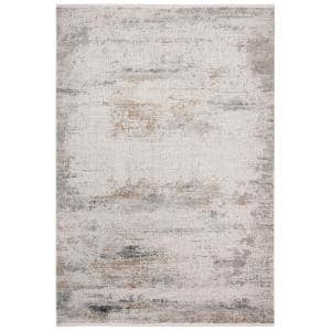 Eclipse Grey/Cream 6 ft. x 9 ft. Distressed Area Rug