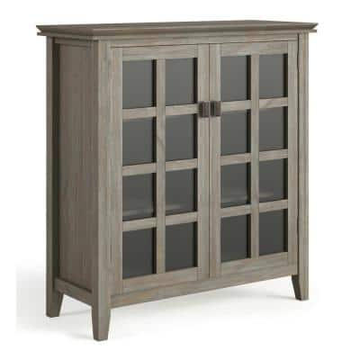 Holden Distressed 38 in. Grey Wide Contemporary Medium Storage Cabinet with Solid Wood