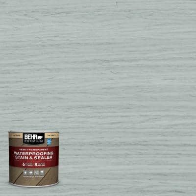 8 oz. #ST-365 Cape Cod Gray Semi-Transparent Waterproofing Exterior Wood Stain and Sealer Sample