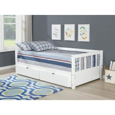 Conyers White Storage Trundle Daybed