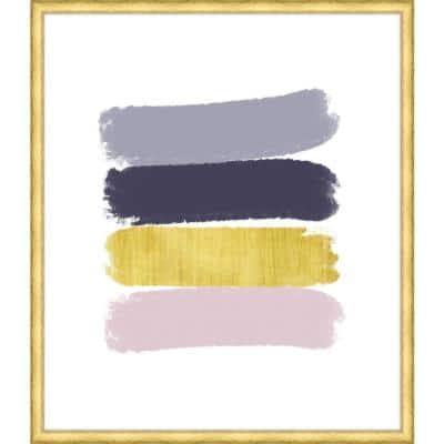 """37 in. x 32 in. """"Paint Swashes I"""" Framed Giclee Print Wall Art"""