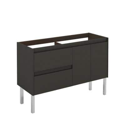 Ambra 120F DBL 47.5 in. W x 17.6 in. D x 32.4 in. H Bath Vanity Cabinet Only in Anthracite