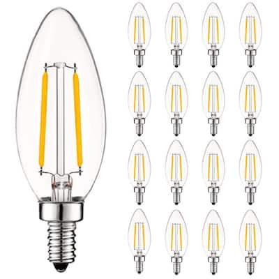 40-Watt Equivalent B10 Vintage Dimmable 400 Lumens LED Bulb 3000K Soft White (16-Pack)