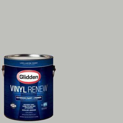 1 gal. #HDGCN62 Pebble Grey Low-Lustre Exterior Paint with Primer