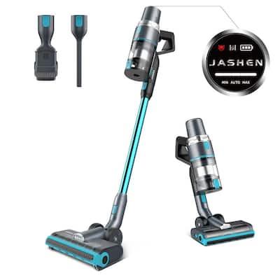 JASHEN V18 Cordless Stick Vacuum Cleaner, 350W Power Strong Suction 2 LED Powered Brushes for Carpet Hardwood Floor Rug