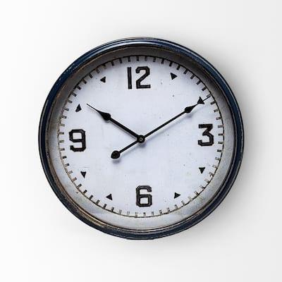 Hereward 16 in. Round Large Modern Wall Clock