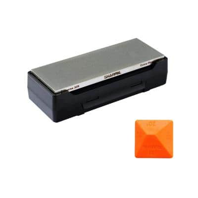 8 in. Dual-Grit Diamond Whets-Tone with Storage Base Coarse/Extra Fine