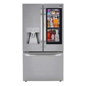 23.50 cu. ft French Door Smart Refrigerator, Instaview Door-In-Door with Craft Ice in PrintProof Stainless Steel