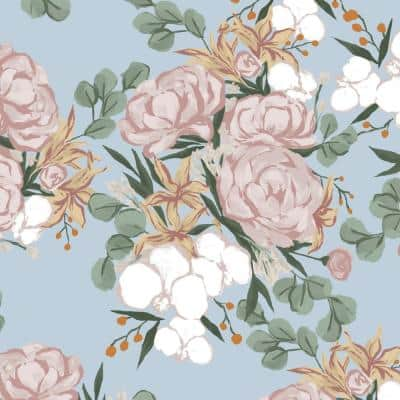 Artisans 36 in. x 54 in. Giana Floral Outdoor Fabric by the Yard
