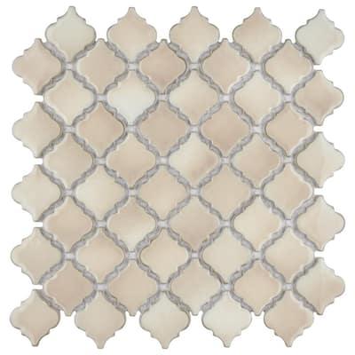 Hudson Tangier Truffle 12 in. x 12 in. Porcelain Mosaic Tile (10.96 sq. ft. / Case)