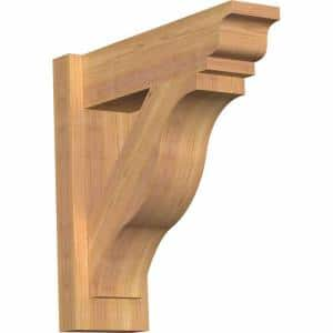 6 in. x 18 in. x 18 in. Western Red Cedar Fuston Traditional Smooth Outlooker