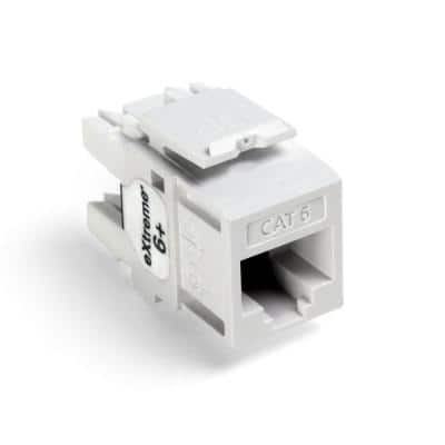 QuickPort Extreme CAT 6 Connector with T568A/B Wiring, White